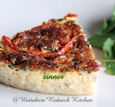 Salmon & Ham Quiche
