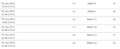 Jadwal UERO Grup C
