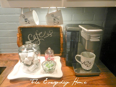 coffee, coffee cups, coffee station, chalkboard paint, K-cups, cuisinart