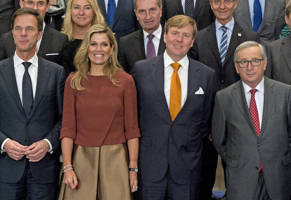 Queen Maxima And King Willem-Alexander Welcomed The European Commission