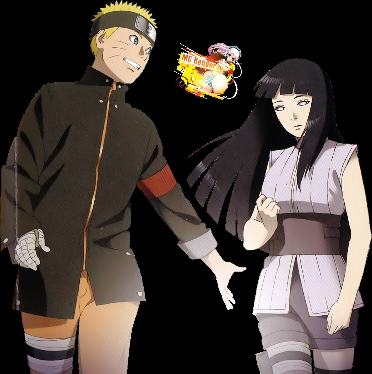 Tags: Anime, Render,  Hyuuga Hinata,  Naruto,  Uzumaki Naruto, PNG, Image, Picture