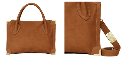 Foley + Corinna, Frame satchel bag, whiskey
