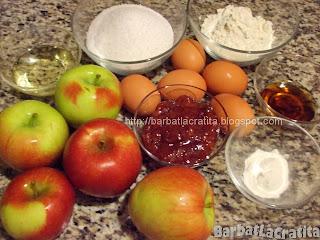 Tort de mere coapte cu zahar ars Ingrediente reteta