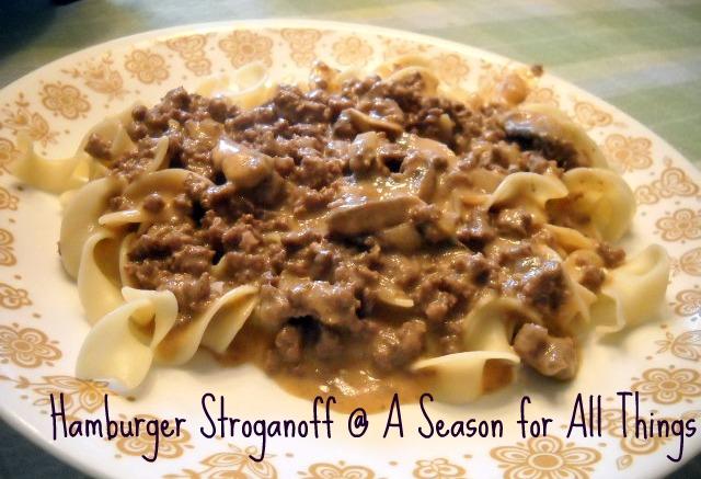 A Season For All Things Hamburger Stroganoff