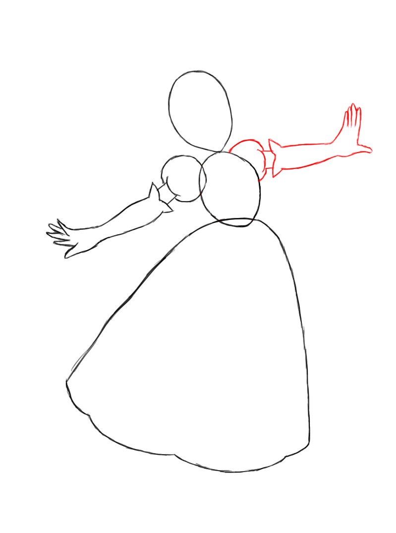 how to draw princess peach face step by step