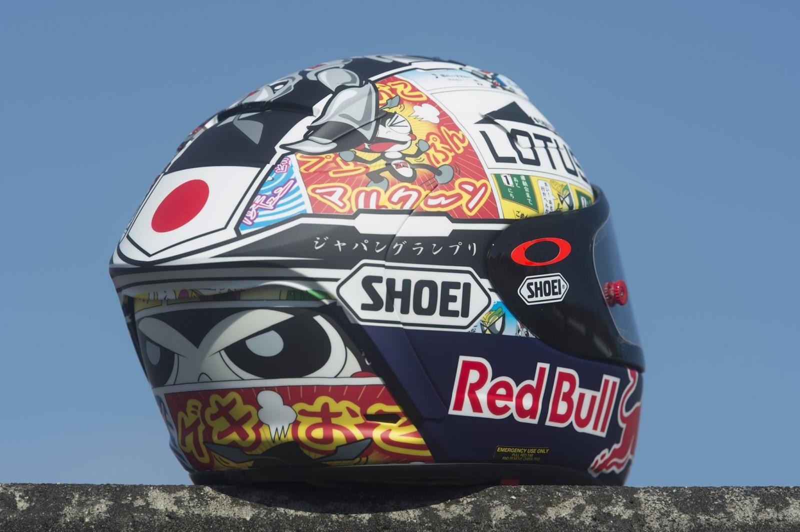 racing helmets garage shoei x spirit ii m m rquez motegi 2015. Black Bedroom Furniture Sets. Home Design Ideas