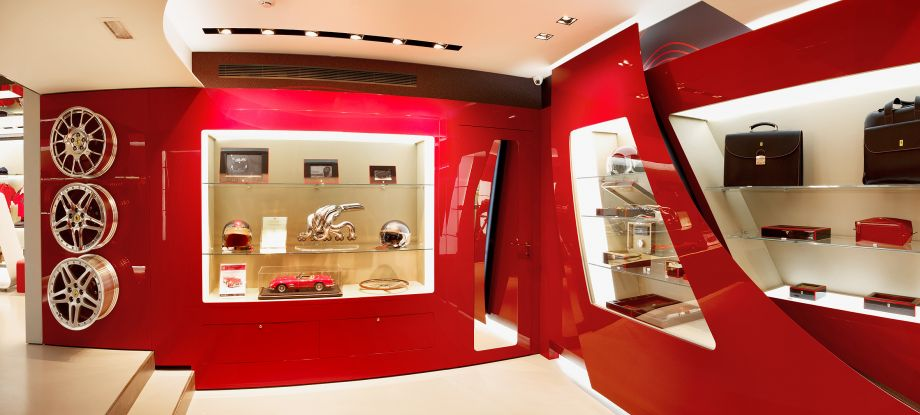 The Ferrari Stores Have The Ambition To Not Only Shops, But The Collection  Points Of The History And Spirit Of Ferrari, Which Is Expressed   Through  The ...