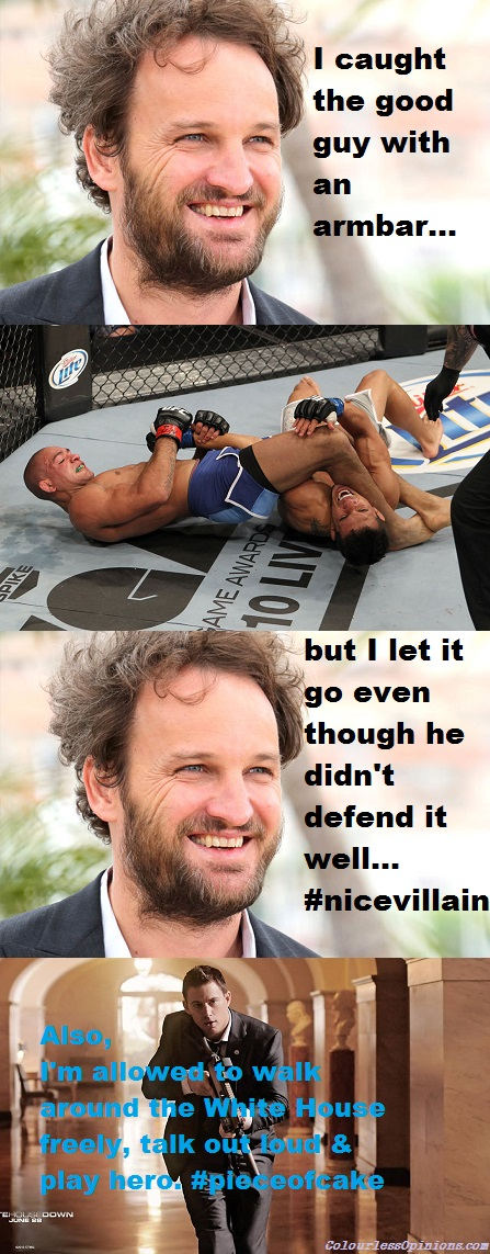Jason Clarke & Channing Tatum White House Down armbar meme