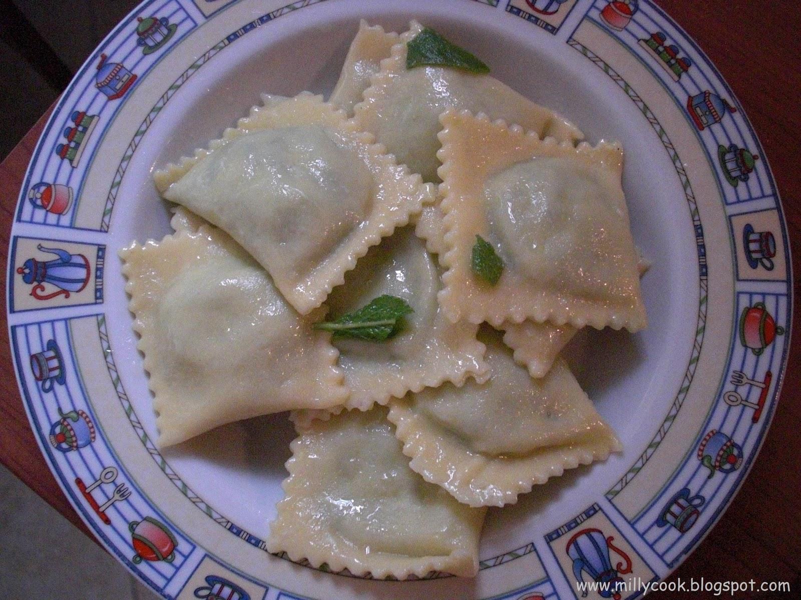 Milly 39 s cook ravioli ricotta e spinaci fatti in casa - Faretti in casa ...