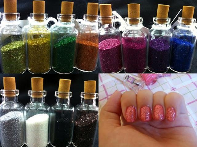 Sorteio de Kit com 12 cores de glitter nails