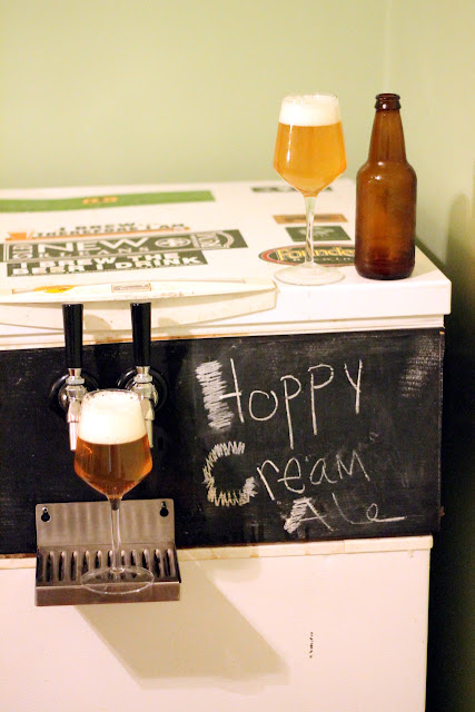 Tasting of Aromatic Cream Ale in a bottle and on tap.