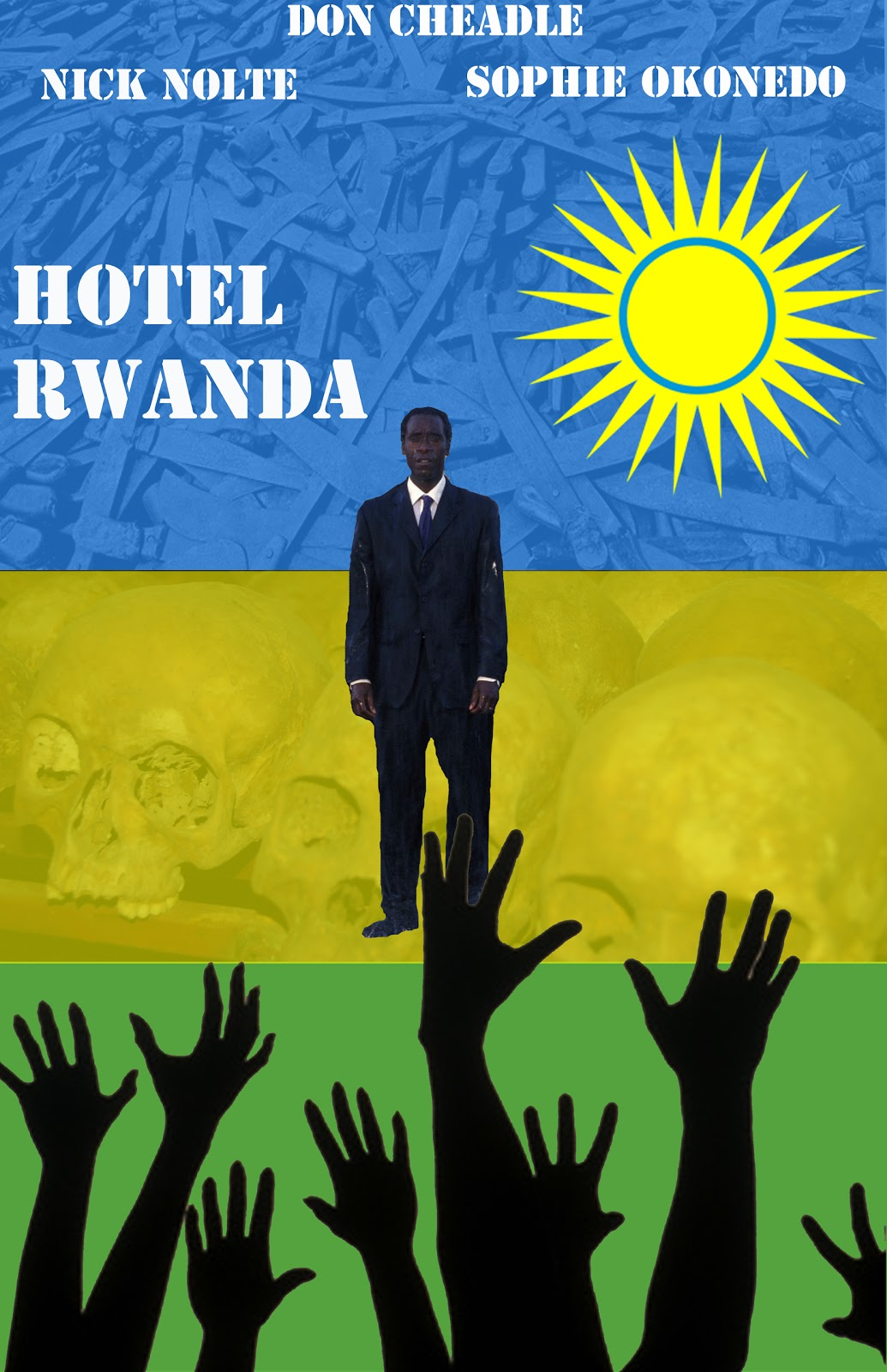 essay about the movie hotel rwanda Hotel rwanda follows a hotel manager, paul rusesabagina, during the rwandan genocide that occurred in 1994 because of paul's job position, he interacts with many european leaders.