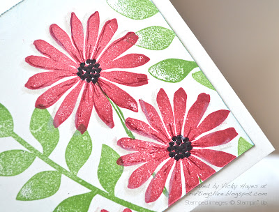 Close up of flower from Secret Garden by Stampin' Up