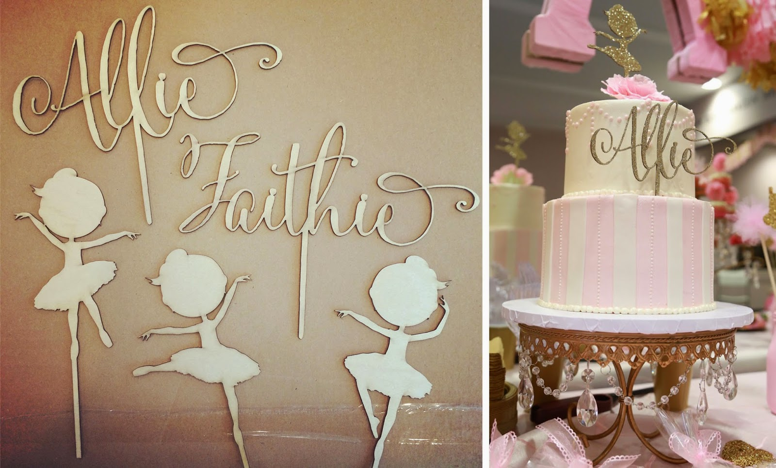 Art Easel Cake Topper : A Pink and Gold Ballet Birthday Party Creative Ever After