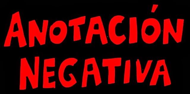 Anotación Negativa Cómics.