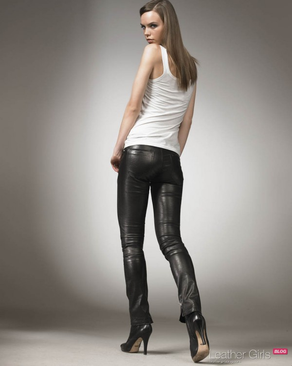 Lingerie Models: Leather Pants, Skirts and Dresses