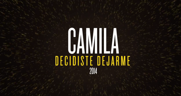 video cancion decidiste dejarme camila