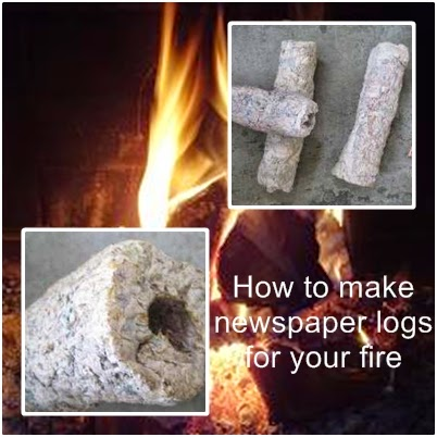 How to make newspaper logs for your fire