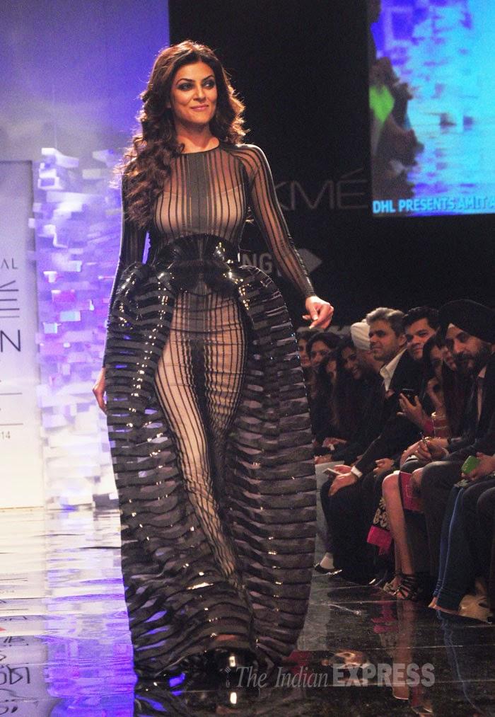 Shushmita sen in Lakme Fashion Week