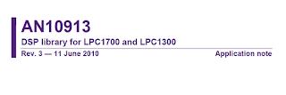 nota de aplicação NXP DSP ARM Cortex-M3