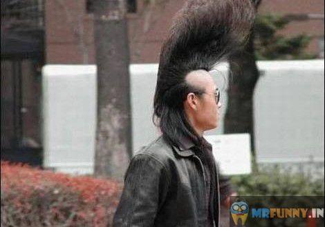 Long Hair Men Style Funny