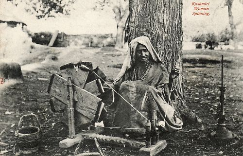 Kashmiri Woman Spinning - 1910's
