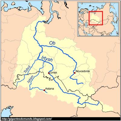 mapa Rio Ob