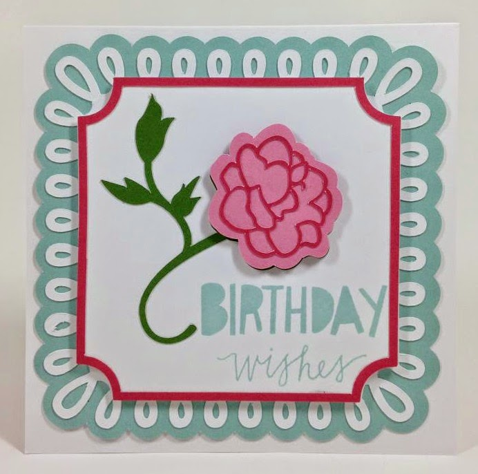 Cricut Martha Stewart Elegant cartridge Birthday Wishes card