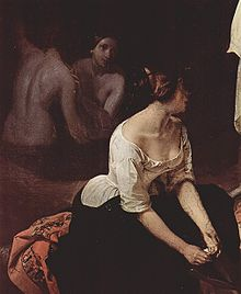Famous Painting by Francesco Hayez - Bath of the Nymphs