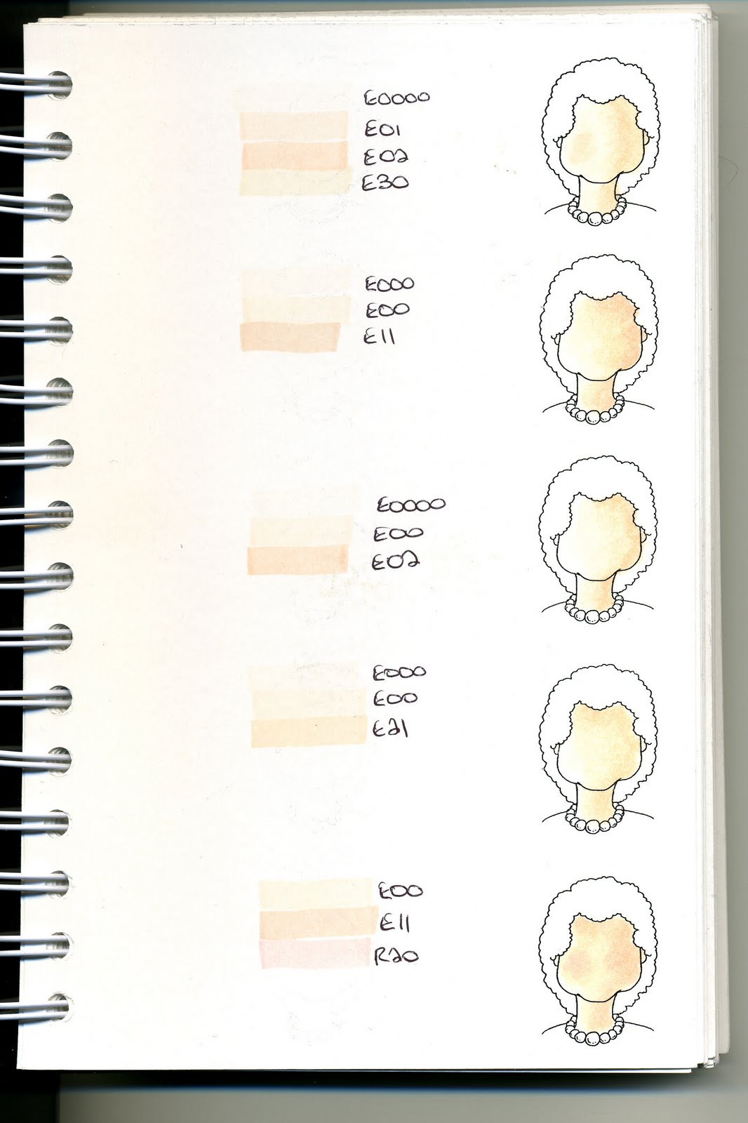 Cats Creations Copic Swatch Book