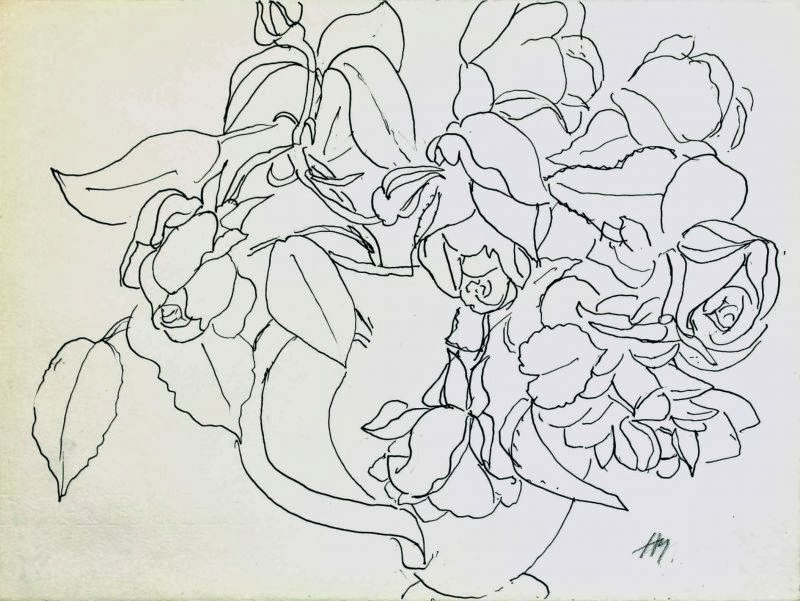 Contour Line Drawing Of A Flower : Berlin drawing room contour lines from matisse to david