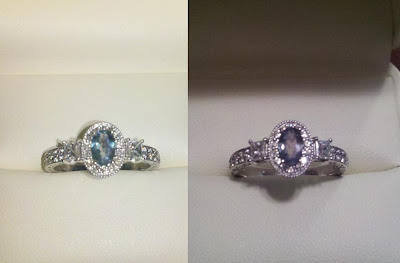 Natural alexandrite ring my 10 year anniversary ring for Jared the galleria of jewelry frisco tx
