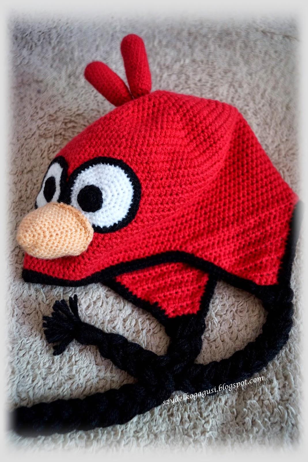 szydełkowa czapka z nausznikami