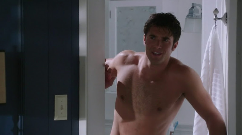 Joshua Bowman and Ashton Holmes Shirtless in Revenge s1e04