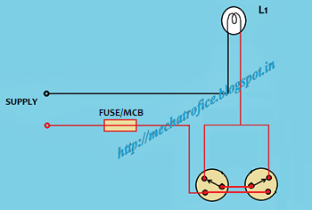 staircase wiring mechatrofice 3-Way Toggle Switch Wiring Diagram 1- Way Switch Wiring Diagram