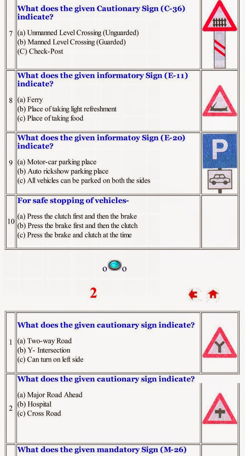 Learning licence test questions in hindi pdf