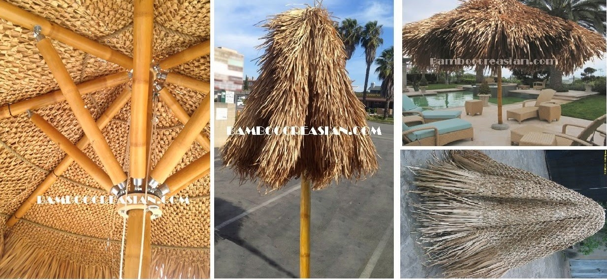 Quality Bamboo And Asian Thatch Build Thatch Umbrellas