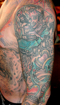 Motocross Tattoos http://tattoo1001styles.blogspot.com/2012/01/carey-harts-tattoos-style.html