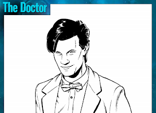 the doctor coloring page