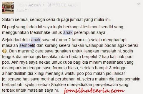 Mealshake, Testimoni Mealshake, Produk SHAKLEE, Pengedar Shaklee Kuantan, Independent SHAKLEE Distributor, Info, COD, Order,