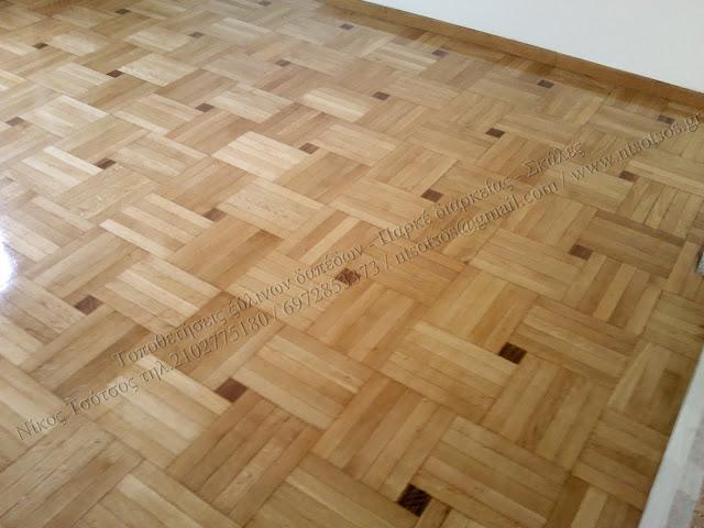 Συντήρηση ξύλινου πατώματος με σατινέ βερνίκι