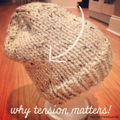 cobberson why you check tension when knitting