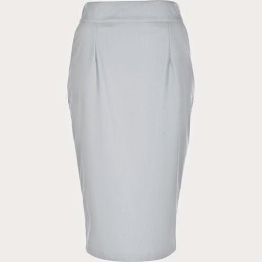 light blue leather skirt