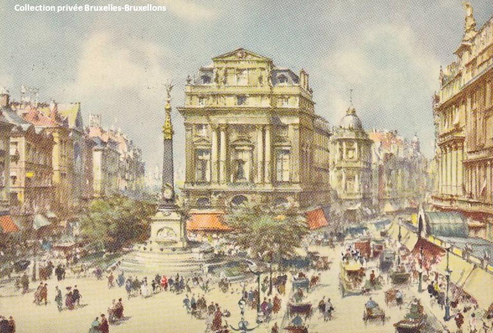 Place de Brouckère - Début des années 1900 - Bruxelles-Bruxellons