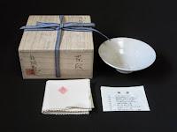 梶原靖元作 高麗白磁 茶碗