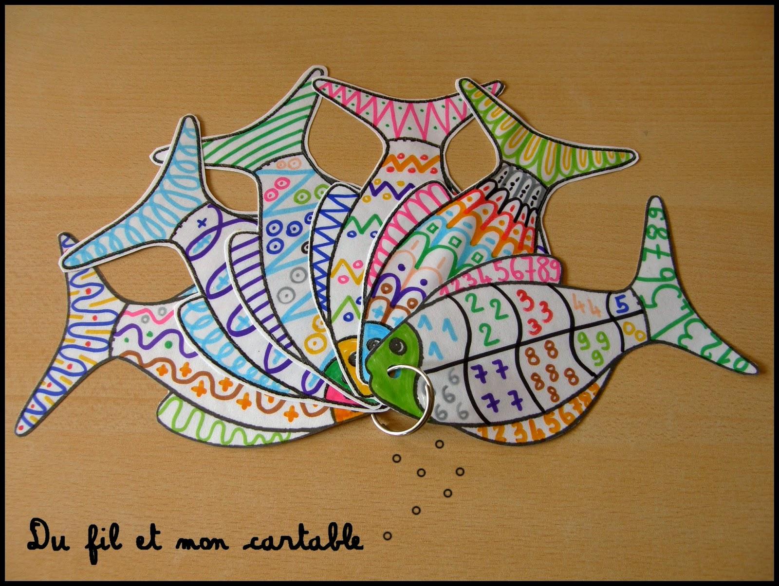 Du fil et mon cartable atelier graphisme poisson coin - Poisson en maternelle ...