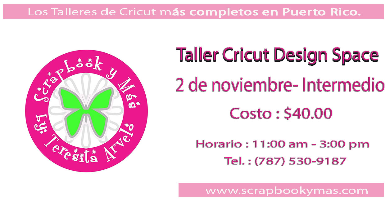 Taller Cricut Design Space INTERMEDIO
