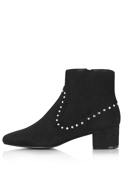 black suede stud boots, suede studded boots,