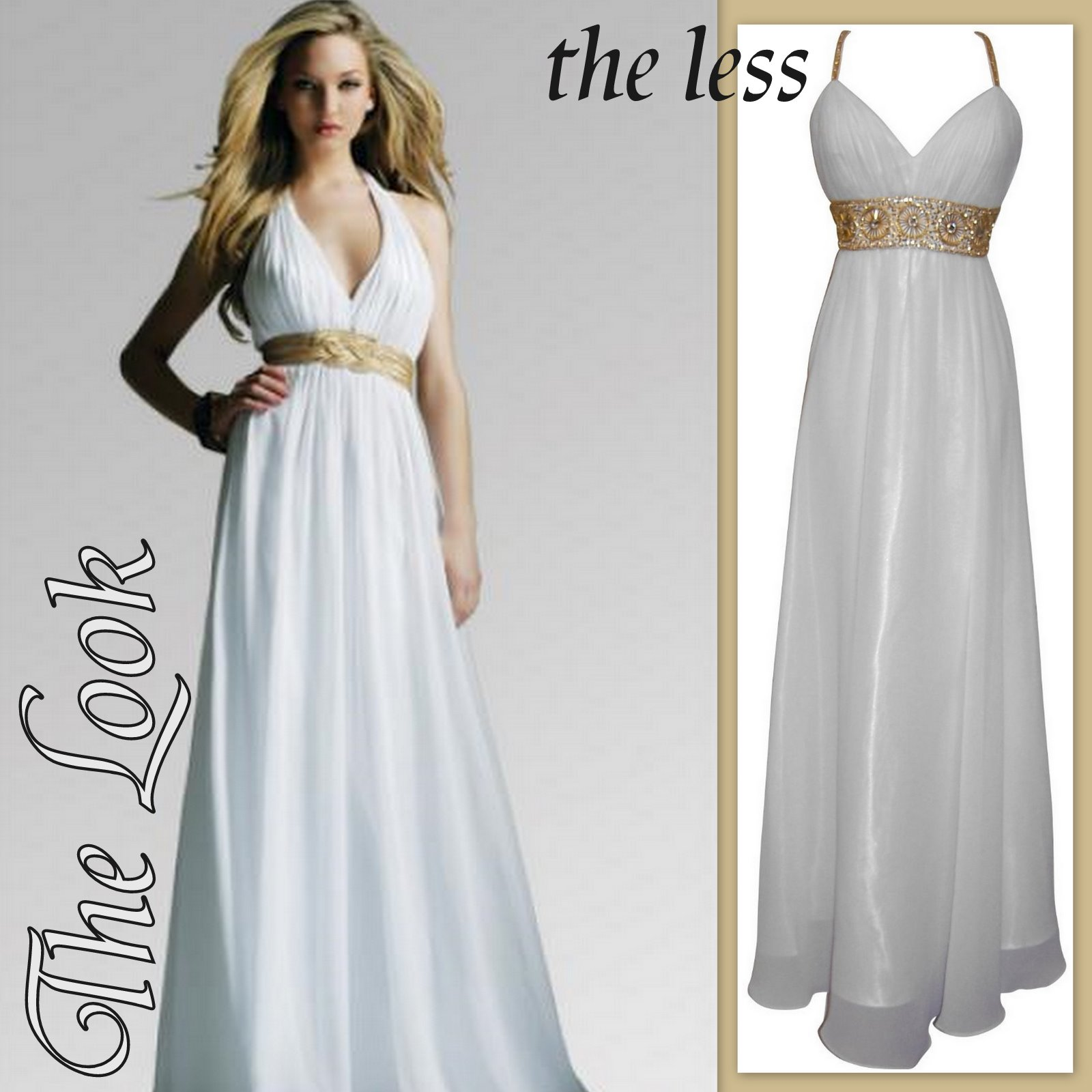 Get the Wedding Look For Less: Look for less: Goddess Like dresses