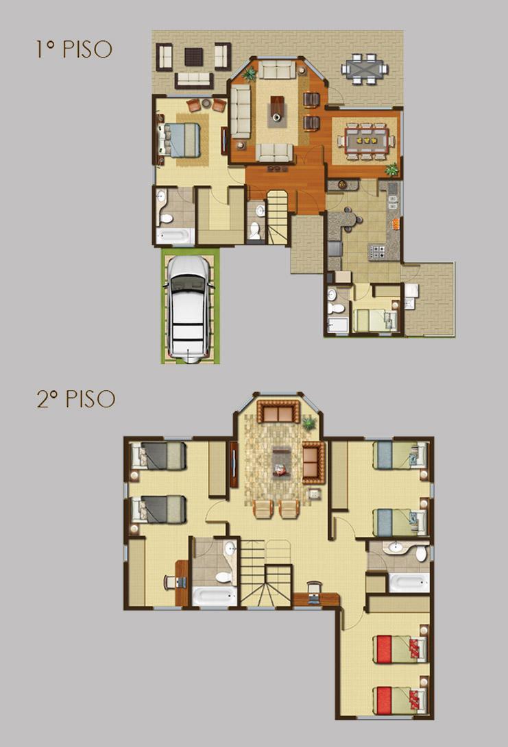 Ideas para tes and chang 39 e 3 on pinterest - Planos de casas de dos pisos ...